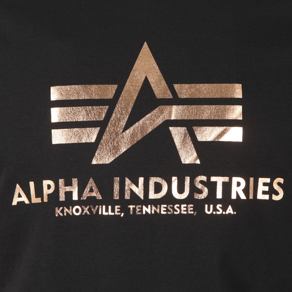 Alpha Industries Mens Black Logo T Shirt main image
