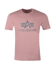 Alpha Industries Mens Pink Logo T Shirt