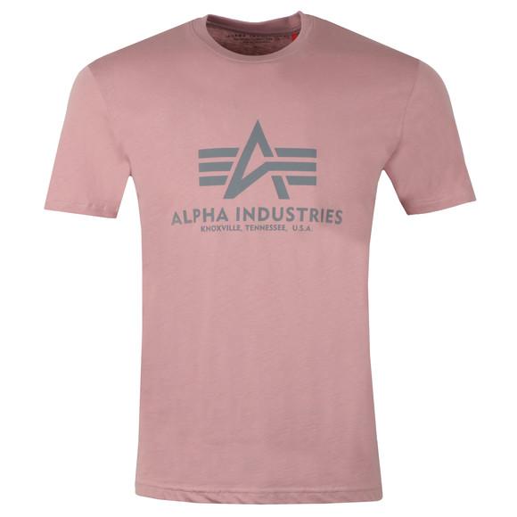 Alpha Industries Mens Pink Logo T Shirt