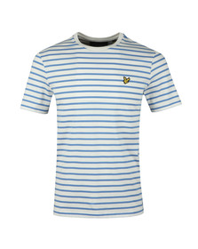Lyle and Scott Mens White Breton Stripe Tee