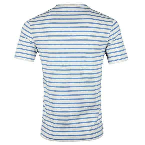 Lyle and Scott Mens White Breton Stripe Tee main image