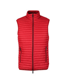 Emporio Armani Mens Red Down Gilet