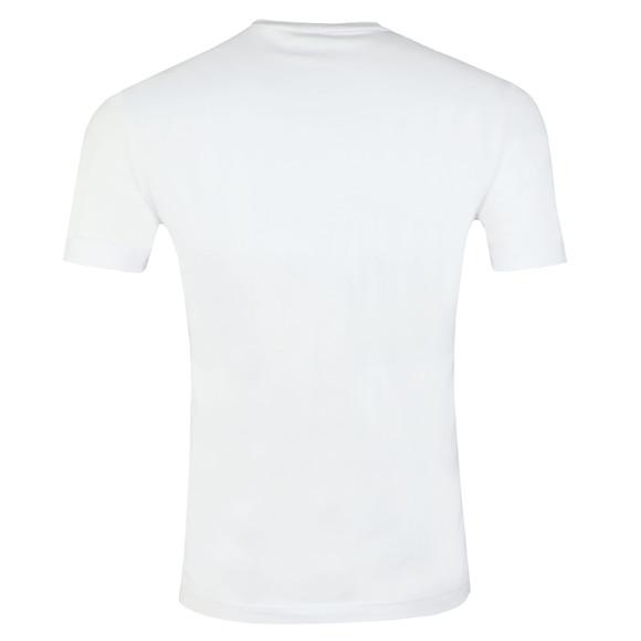 EA7 Emporio Armani Mens White Split Logo T Shirt main image