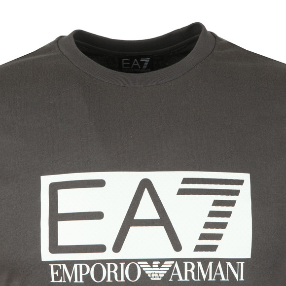 EA7 Emporio Armani Mens Grey Large Rubber Logo Sweatshirt main image