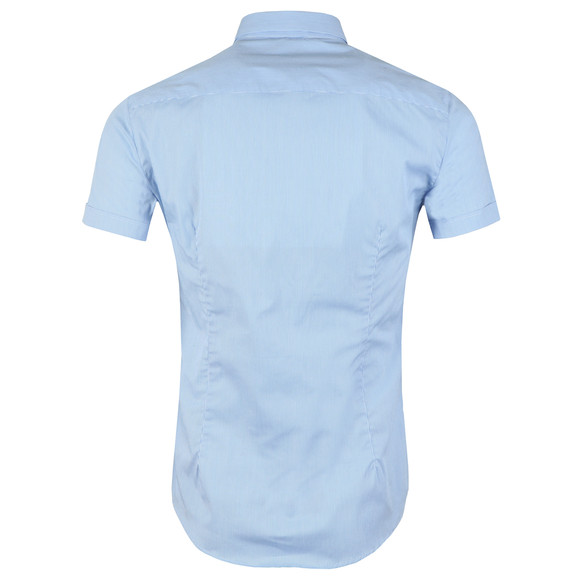 Emporio Armani Mens Blue Stretch Short Sleeve Shirt main image