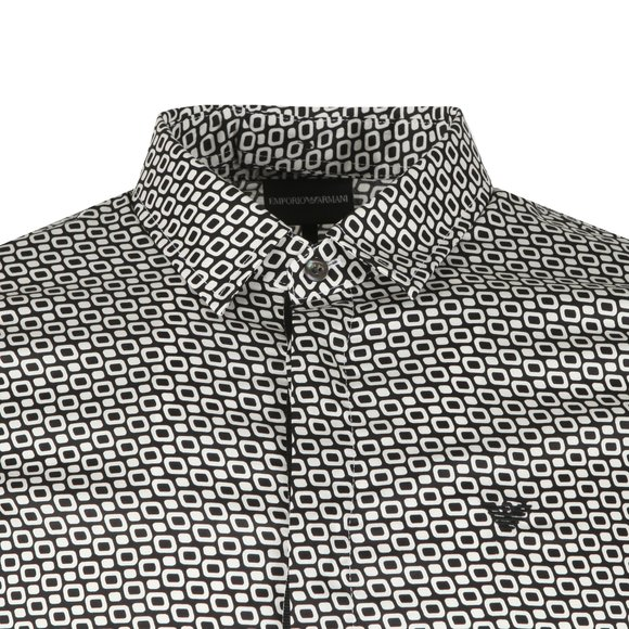 Emporio Armani Mens Black Allover Pattern Shirt main image