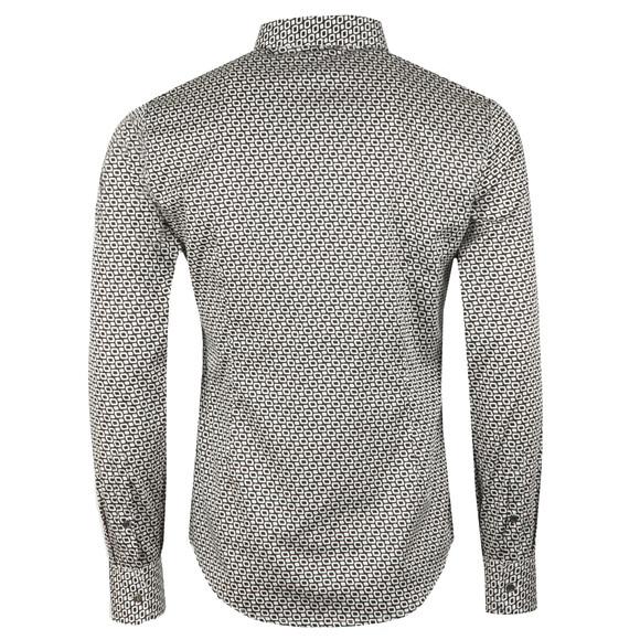 Emporio Armani Mens Black Allover Pattern Shirt main image