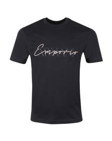 Emporio Armani Mens Blue Signature T Shirt