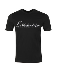 Emporio Armani Mens Black Signature T Shirt