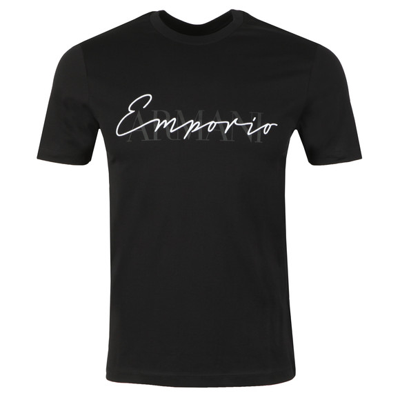 Emporio Armani Mens Black Signature T Shirt