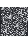 Emporio Armani Mens Blue Logo Square T Shirt