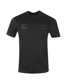 Emporio Armani Mens Black Strip Logo T Shirt