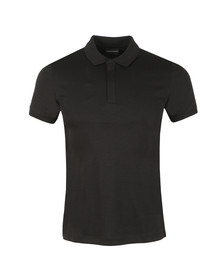Emporio Armani Mens Black Jersey Polo Shirt