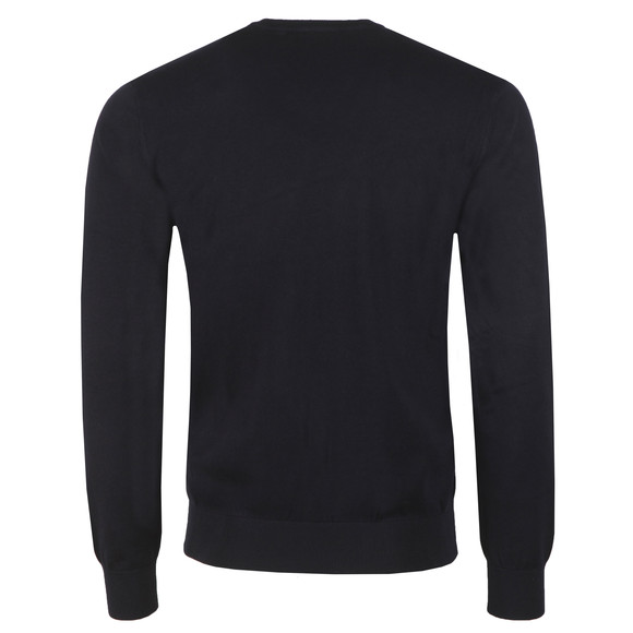 Emporio Armani Mens Blue High V Neck Jumper main image