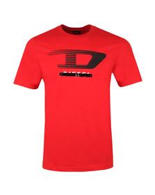 Diesel Mens Red T-Just Y4 T Shirt
