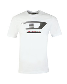 Diesel Mens White T-Just Y4 T Shirt