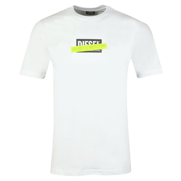 Diesel Mens White T-Just Die T Shirt main image