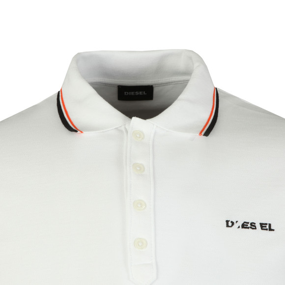 Diesel Mens White Randy Broken Polo Shirt main image