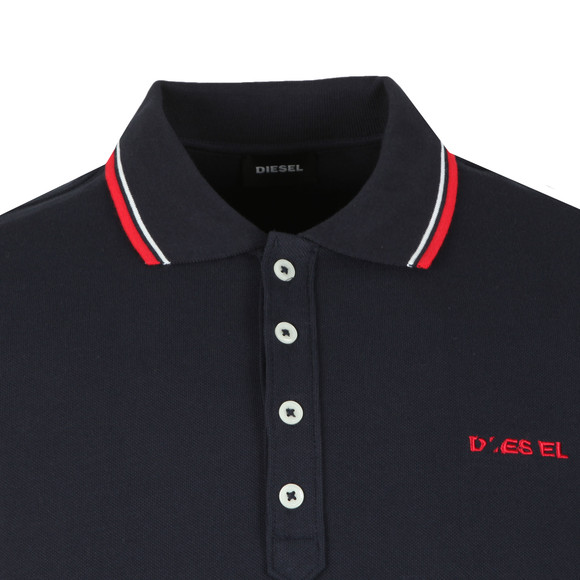 Diesel Mens Blue Randy Broken Polo Shirt main image