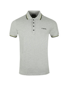 Diesel Mens Grey Randy Broken Polo Shirt