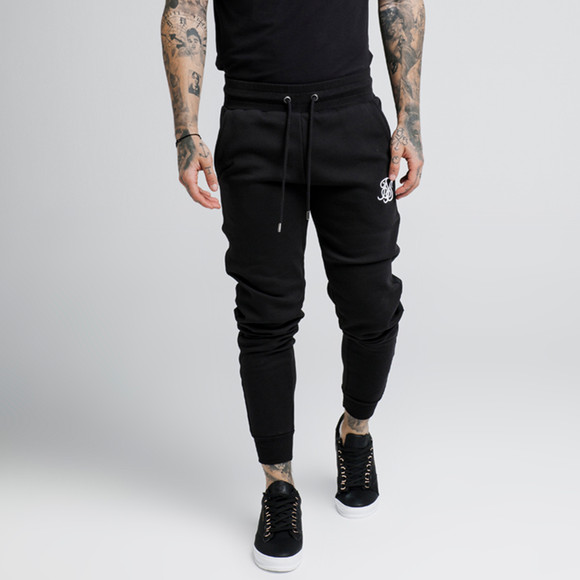 Sik Silk Mens Black Muscle Fit Jogger main image