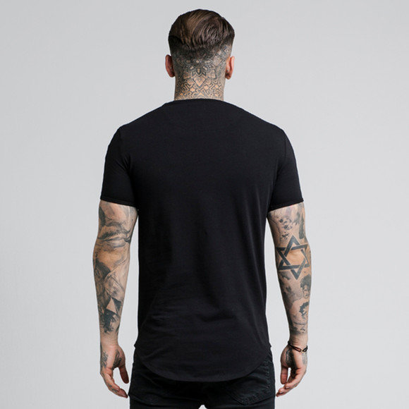 Sik Silk Mens Black Lurex Gold Tape Tee main image