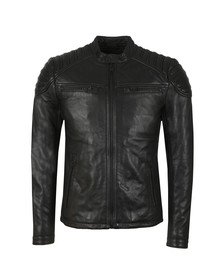 Superdry Mens Black New Hero Leather Jacket