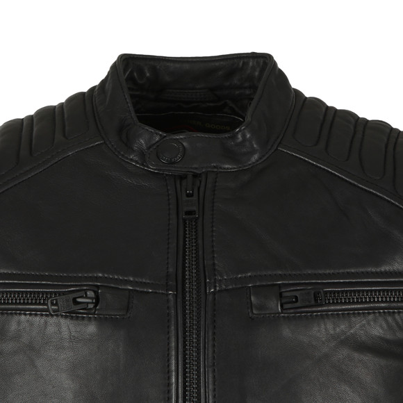 Superdry Mens Black New Hero Leather Jacket main image