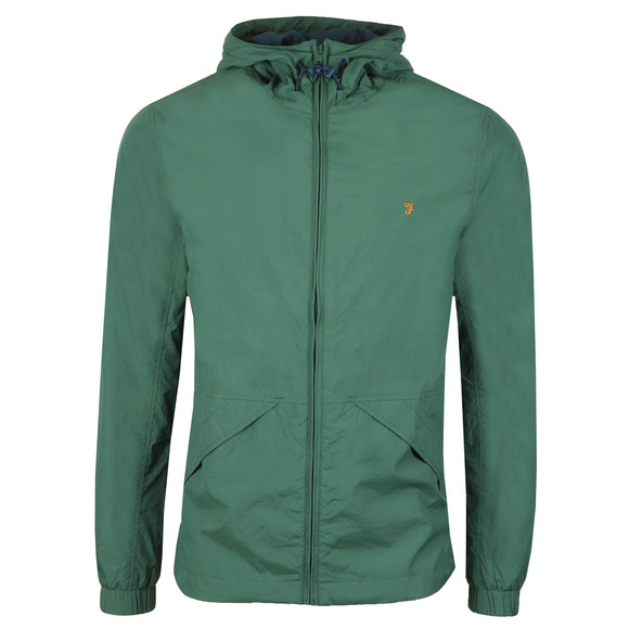 Farah Mens Green Astoria Hooded Jacket
