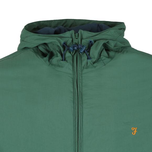 Farah Mens Green Astoria Hooded Jacket main image