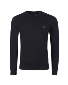 Farah Mens Blue Mullen Cotton Sweater