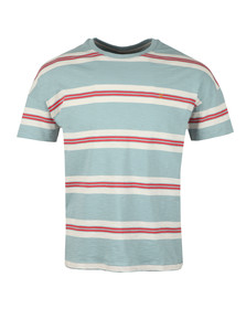 Farah Mens Blue Elkin Multi Stripe T-Shirt
