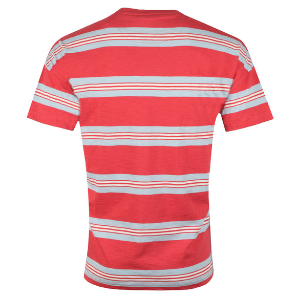 Farah Mens Red Elkin Multi Stripe Tee main image