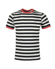 Farah Mens Red Belgrove Striped Tee