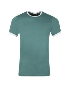 Farah Mens Green Groves Ringer Tee