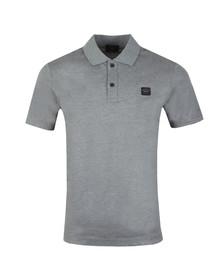 Paul & Shark Mens Grey Chest Badge Polo Shirt