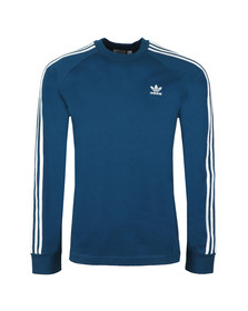 adidas Originals Mens Blue 3 Stripes L/S Tee