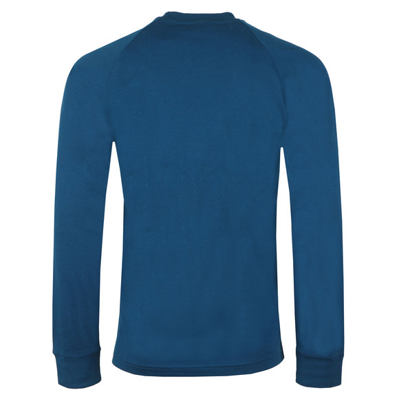 adidas Originals Mens Blue 3 Stripes L/S Tee main image