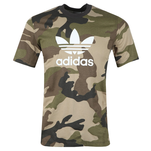 adidas Originals Mens Black Trefoil Tee main image