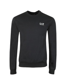 EA7 Emporio Armani Mens Blue Small Rubber Logo Sweatshirt