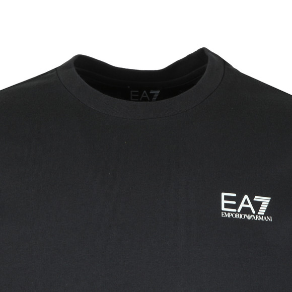 EA7 Emporio Armani Mens Blue Small Rubber Logo Sweatshirt main image
