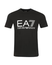 EA7 Emporio Armani Mens Black Large Logo Crew T Shirt