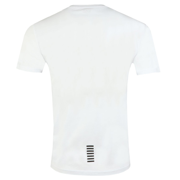 EA7 Emporio Armani Mens White Small Rubber Logo T Shirt main image
