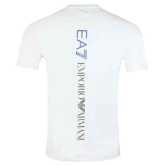 EA7 Emporio Armani Mens White Printed Small Logo T Shirt main image
