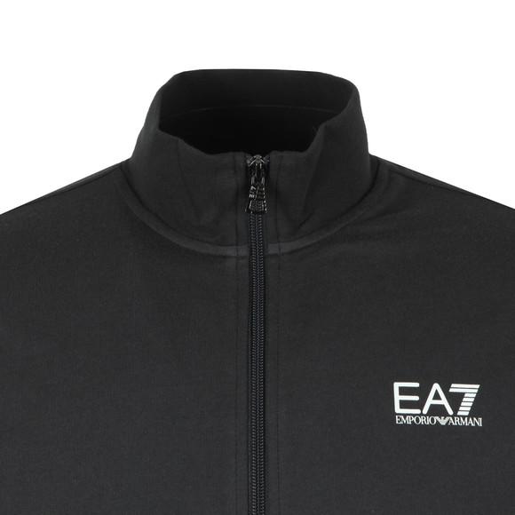 EA7 Emporio Armani Mens Blue Small Rubber Logo Full Zip Tracksuit main image