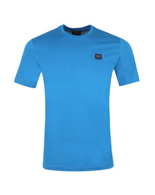 Paul & Shark Mens Blue Chest Badge Plain T Shirt