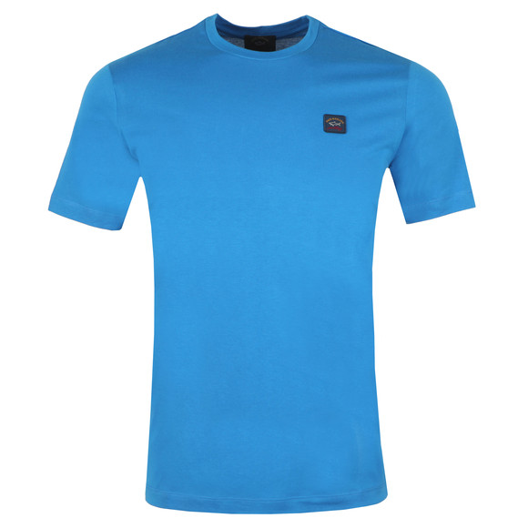 Paul & Shark Mens Blue Chest Badge Plain T Shirt main image