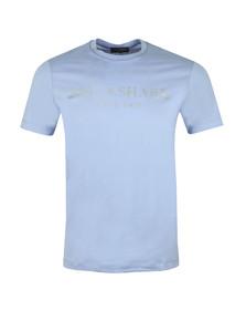 Paul & Shark Mens Blue Silver Logo T Shirt
