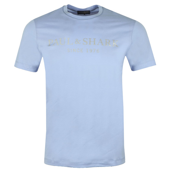 Paul & Shark Mens Blue Silver Logo T Shirt main image