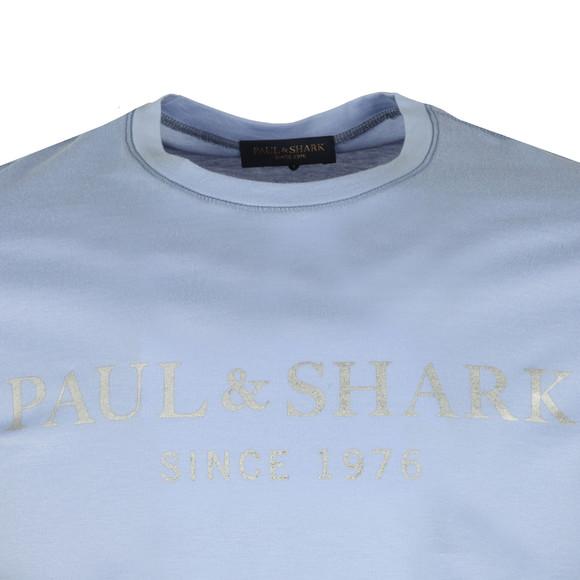 Paul & Shark Mens Blue Silver Logo T Shirt main image